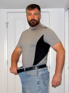 The jeans and belt have a little more room in them now that I've lost 50 pounds.